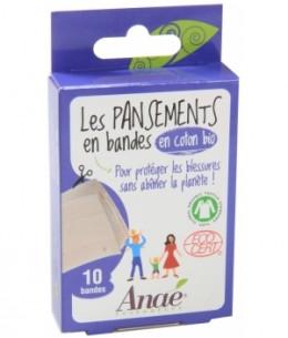 Anae - 10 Bandes de Pansements en Coton bio