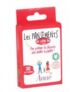 Anae - 30 Pansements coton bio 3 Tailles