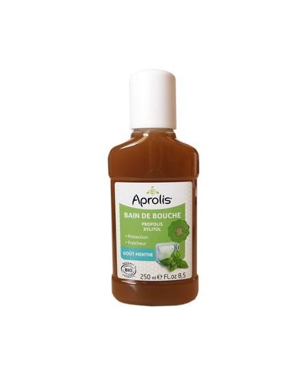 Aprolis - Bain de bouche Propolis et Xylitol goût Menthe - 250 ml