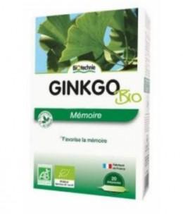 Biotechnie - Ginkgo biloba bio - 20 ampoules