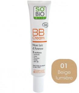 So'Bio étic - BB cream mon lait d'ânesse N°1 beige lumière - 40 ml