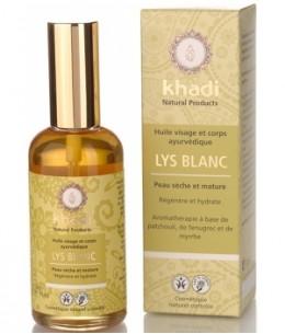 Khadi - Huile de Lys Blanc Visage et Corps 100 ml