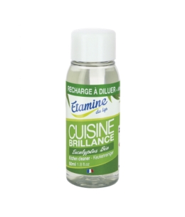 Etamine du Lys - Recharge à diluer Brillance cuisine à l'eucalyptus pulvérisateur