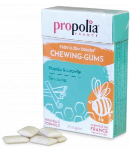 Propolia - Chewing Gum Propolis et Cannelle - Boîte de 27 gommes