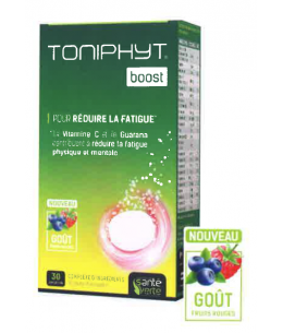 Santé Verte - Toniphyt Boost Goût Fruits Rouges - 30 comprimés effervescents