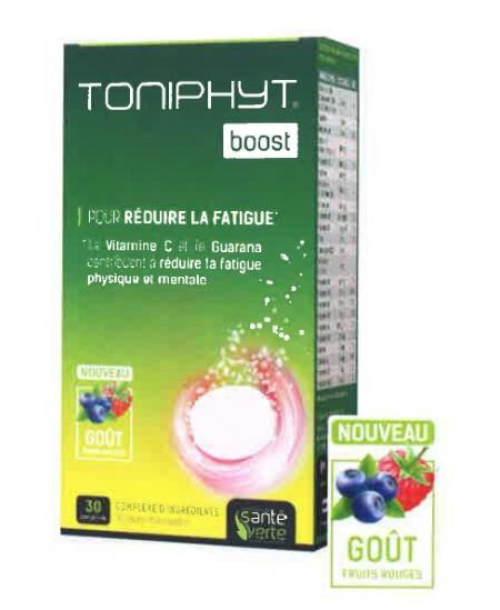 Santé Verte - Toniphyt Boost Goût Fruits Rouges - 30 comprimés effervescents