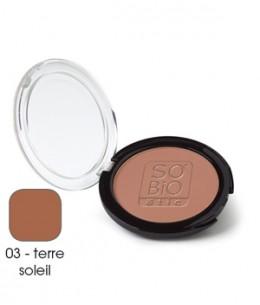 So'Bio étic - Poudre compacte 03 Terre Soleil - 10 gr