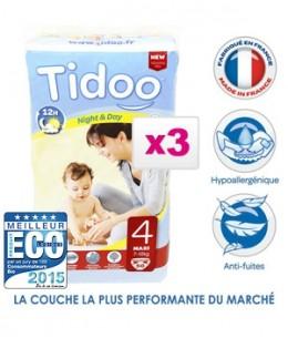 Tidoo - Jumbo de 3 x 50 Couches MAXI (T4)
