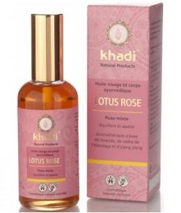Khadi - Huile de Lotus rose Visage et Corps - 100 ml
