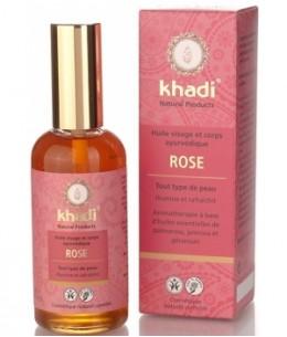Khadi - Huile de Rose Visage et Corps - 100 ml