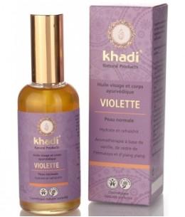 Khadi - Huile de Violette Visage et Corps - 100 ml