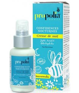 Propolia - Confidences Nocturnes crème de nuit BIO Flacon Pompe - 50 ml