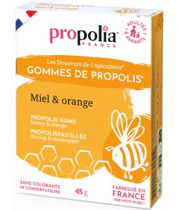 Propolia - Gommes de Propolis Miel Orange - 45 gr