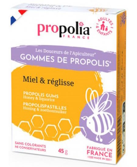 Propolia - Gommes de Propolis Miel Réglisse - 45 gr