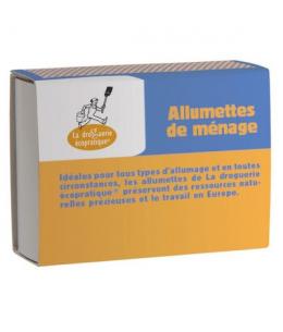 Droguerie Ecologique - 4 boîtes 100 allumettes FSC