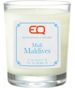 EQ - Bougie artisanale parfumée Muli Maldives - 180 gr