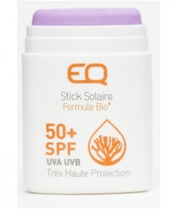 EQ - Stick solaire très haute protection SPF 50+ teinté Mangagnèse violet - 10 gr