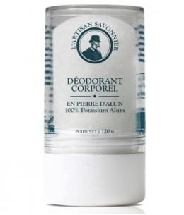 L'artisan Savonnier Hygiène - Déodorant corporel Pierre D'Alun mixte naturelle - 120 gr