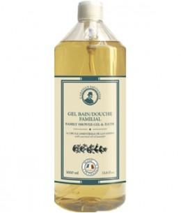 L'artisan Savonnier Hygiène - Gel bain douche familial à l'huile essentielle de Lavandin - 1L