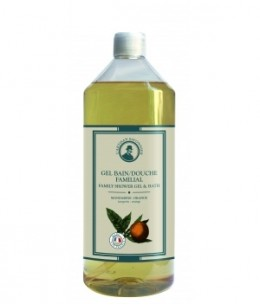 L'artisan Savonnier Hygiène - Gel bain douche familial Mandarine Orange - 1L