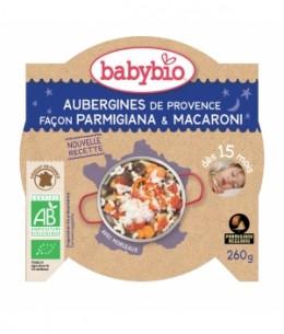 Babybio - Menu Bonne Nuit Aubergines de Provence Parmigiana Macaronis dès 15 mois - 260 gr