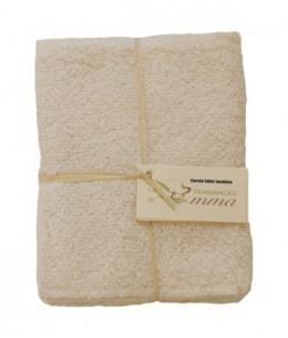 Les Tendances D Emma - Lot de 5 carrés bébé lavables en Bambou Ecru