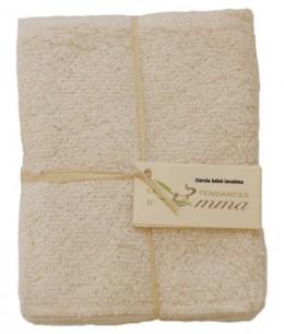 Les Tendances D Emma - Lot de 5 carrés bébé lavables en Coton bio Biface