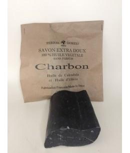 Terres Dorées - Savon Extra Doux au Charbon 100% végétal - 100g