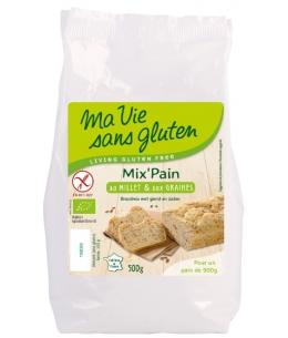 Ma Vie Sans Gluten - Préparation pour pain au Millet et aux Graines sans Gluten - 500 gr