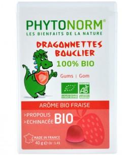 Phytonorm - Dragonnettes Bouclier 100% bio Gommes à mâcher Arôme bio de fraise - 40 gr