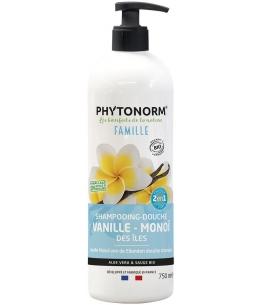 Phytonorm - Shampooing douche Adoucissant senteur vanille monoï - 1L