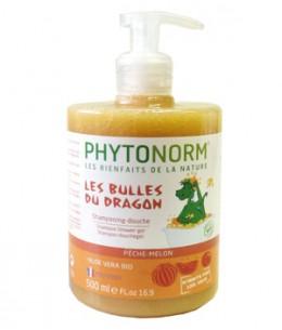 Phytonorm - Shampooing douche Les bulles du Dragon Senteur Pêche Melon - 500 ml
