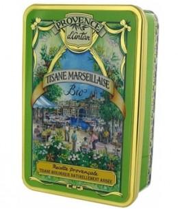 Provence D Antan - Tisane Marseillaise bio Coffret Boite métal - 30 sachets