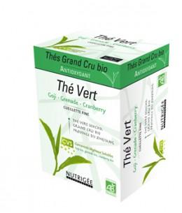 Nutrigee - Thé Vert Antioxydant Goji Grenade Cranberry gamme Thés Grand Cru - 30 sachets