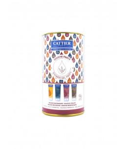 Cattier - Coffret Douche Party - 4 gels douche de 40 ml