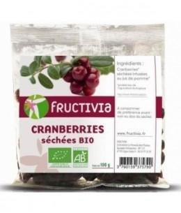 Fructivia  - Cranberries séchées entières - 100 gr