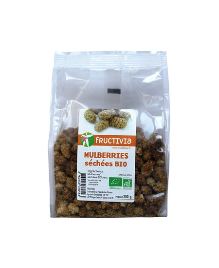 Fructivia  - Mûres blanches (Mulberries) séchées - 200 gr