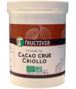 Fructivia  - Poudre de Cacao crue Criollo - 500 gr