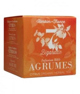 Herbier De France - Bigarade infusion bio Agrumes - 15 mousselines