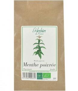 Herbier De France - Menthe Poivrée feuilles - 40 gr