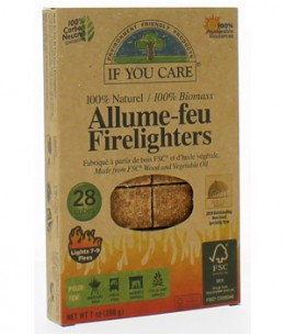 If You Care - Allume feu 100% naturel 28 cubes