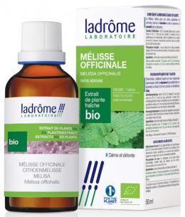 Ladrome - Extrait de plantes fraîches Mélisse bio - 50 ml