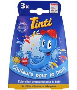 Tinti - 3 pastilles pour le bain Bleu Jaune Rouge - 100 gr