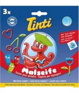 Tinti - Coffret 3 savons pour peindre Bleu, Vert, Rouge dès 36 mois - 3 x 70 ml - 250 ml