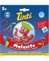 Tinti - Coffret 3 savons pour peindre Bleu, Vert, Rouge dès 36 mois - 3 x 70 ml