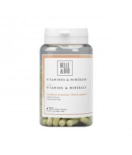 Belle et Bio - Vitamines et minéraux naturels - 120 gélules