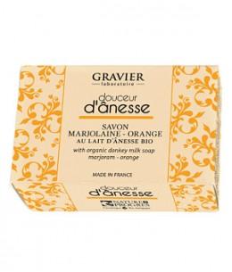 Gravier - Savon Marjolaine Orange au lait d'ânesse - 100 gr