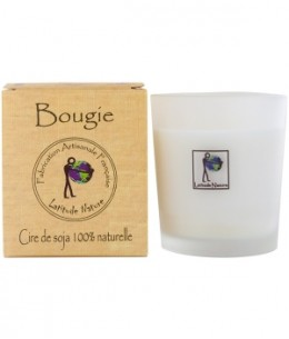 Latitude Nature - Bougie votive huiles essentielles Orange Cannelle - 75 gr