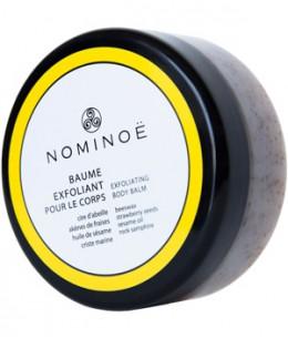 Nominoe - Baume Exfoliant corps Cire d'abeille, Sésame, Sucre et Fraises - 150 ml