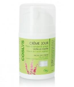 Coslys - Crème de jour peaux à tendance grasse Alliance de 5 actifs - 50 ml